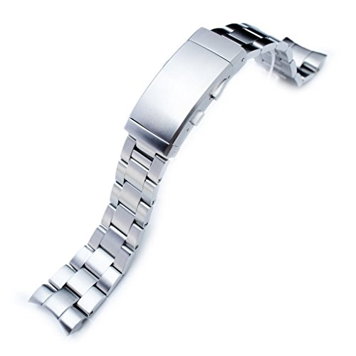22mm Super Oyster 316L Stainless Steel Watch Band for Orient Mako II & Ray II, Ratchet Buckle