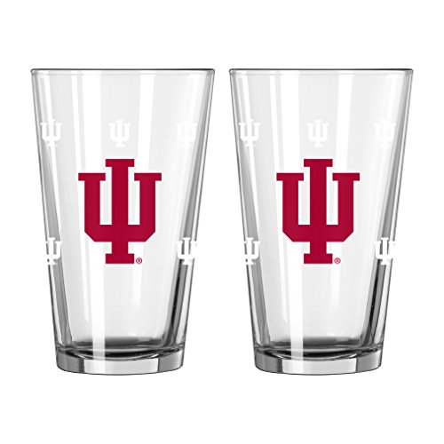 NCAA Indiana Hoosiers Color Changing Pint, 16-ounce, 2-Pack