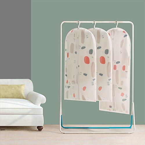 Vivona Garment Clothes Covers Protector Breathable Dustproof Waterproof Hanging Clothes Storage Bag for Coat Dress Windcoat Closet Organizer Windcoat Closet Organizer - (Size: S, Color: 3)
