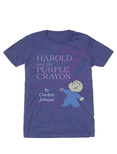 - Out of Print Men's Harold and The Purple Crayon T-Shirt Small Purple
