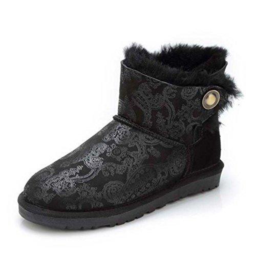 Tube Antidérapant aux de au Strass Hiver Bottes en Neige Chaud Black Chaussures Femmes Bottes Coton imperméable Bas Garder féminines qwRzxrXwt