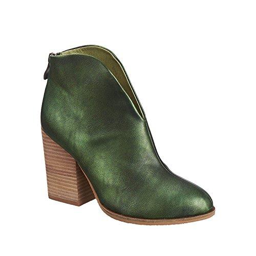 Antelope Womens 898 Metallic Leather Hi-Cut met Bootie Green