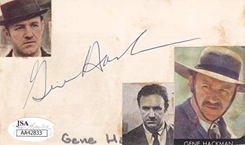 Gene Hackman Signed (GENE HACKMAN Signed 3X5 Index Card Actor/The French Connection AA42833 - JSA Certified)