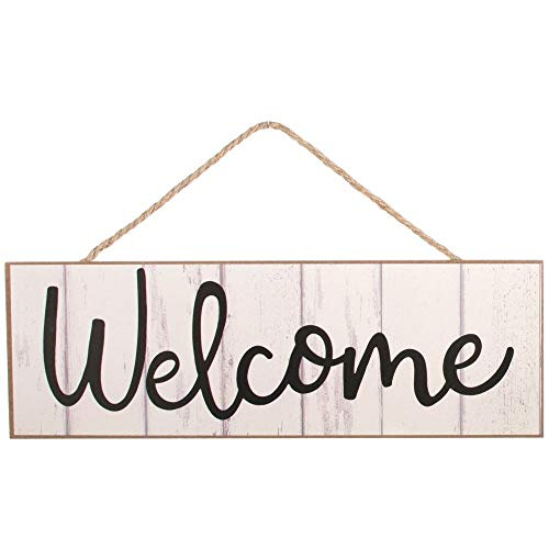 GiftWrap Etc. White Wooden Welcome Fence Sign - 15