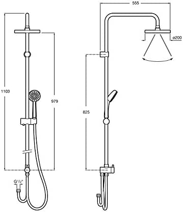 Roca A5A9725C00 Victoria - Columna termostática para ducha ...