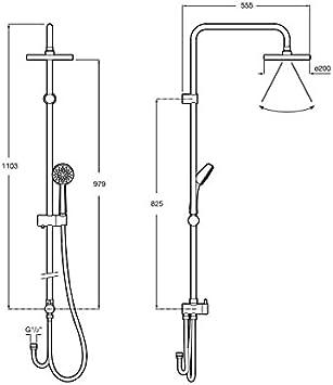 Roca A5A9718C00 Columna de ducha termostática, Cromado: Amazon.es ...
