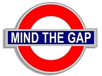 MAGNET Tube Sign Shaped MIND THE GAP Magnet(uk england underground decal) Size: 3.5 x 4 inch
