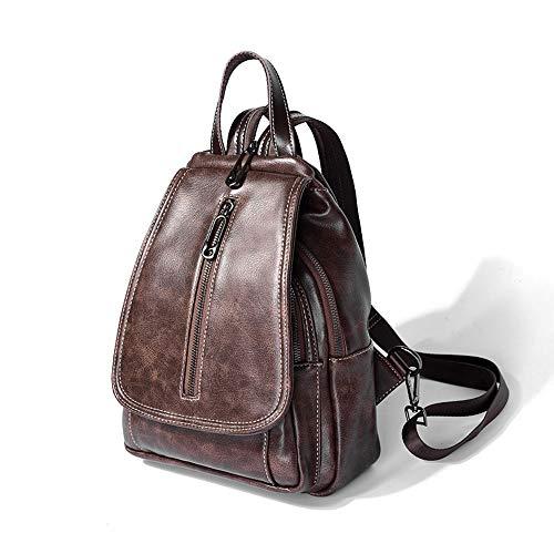 Zaino Tendenza Pelle Donna Da Piccolo Casual Backpack B Vento color Selvaggio Femminile Retrò In A Morbido Britannico CPnwqdE