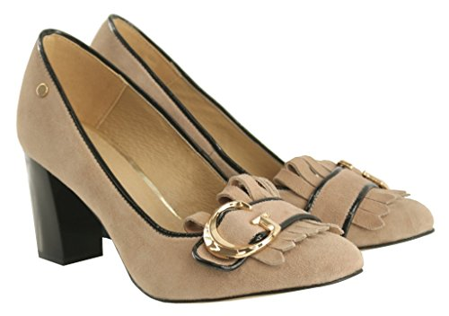 BOSCCOLO 4532-33-36 Timeless Pumps, Heels, Leather, Leder, Cuir Cappuccino