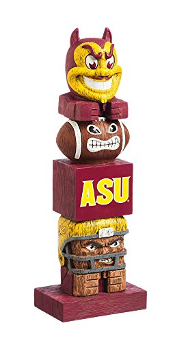 Team Sports America Arizona State University Tiki Totem Garden Statue For Sale
