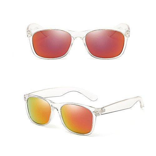 Hombres UV Gafas 100 De Gafas Polarizadas Espejo Sol Orange TESITE Anti para v1qZw