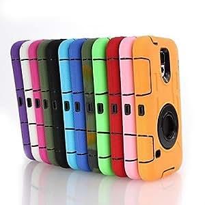 GX Teléfono Móvil Samsung - Cobertor Posterior/Fundas con Soporte - Diseño Especial - para Samsung S5 i9600 ( Multi-color , Plástico/Silicona ) , Black