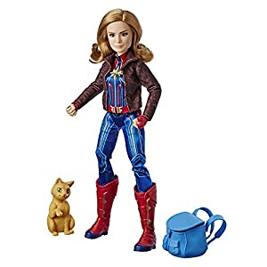 Marvel Captain Marvel Movie Captain Marvel Super Hero Doll Goose The Cat (Ages 6 & Up)