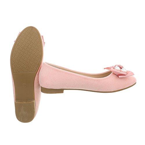 A Design Ballerine Donna Blocco Ballerine rosa Tacco Ital Scarpe a 160 Classiche da ZqPfaUw