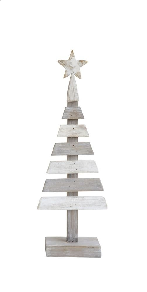 Heart of America Wood Slatted Tree With Star - 3 Pieces by Heart of America (Image #1)