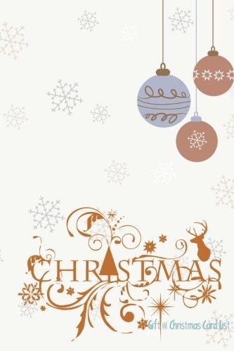 Gift & Christmas Card List (Holidays) (Volume 6)