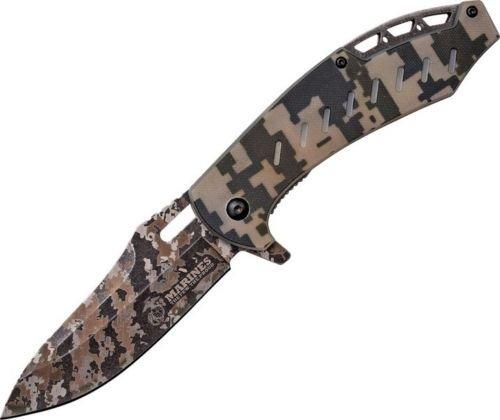 US Army USMA1043DG Marines A/O Folding Knife Digi Camo Folder Blade/G10 Handle for Camping Hiking Hunting Survival Self Defence and practical use + EBOOK (Camo Digi Folder)