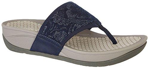 Baretraps Womens Piattaforma Dasie Sandalo Blu Del Denim
