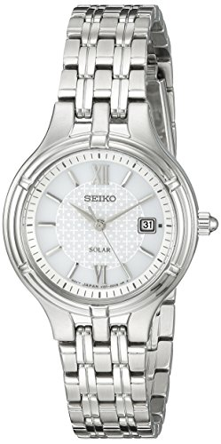 Seiko Women's SUT217 Ladies Dress Solar Analog Display Japanese Quartz Silver Watch