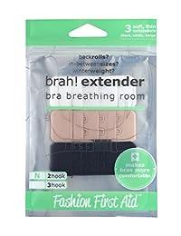 Fashion First Aid Women's Brah Extender Bra Breathing Room 2 Hook Narrow 3 Pack