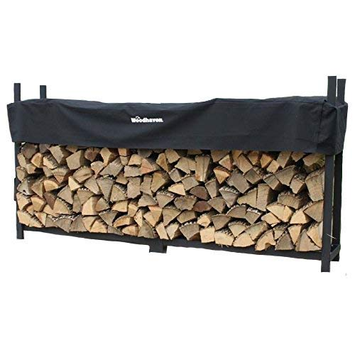 Woodhaven 8 Foot Firewood Rack w Standard Cover