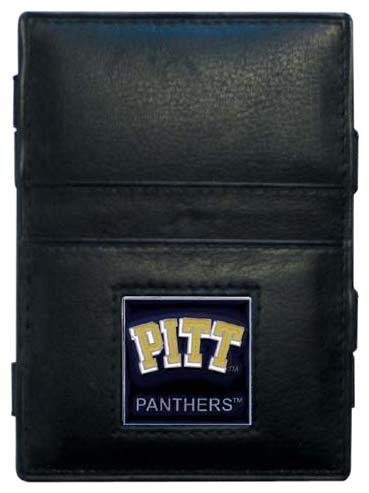 Siskiyou NCAA Pittsburgh Panthers Leather Jacob's Ladder Wallet (Leather Panthers Pittsburgh)