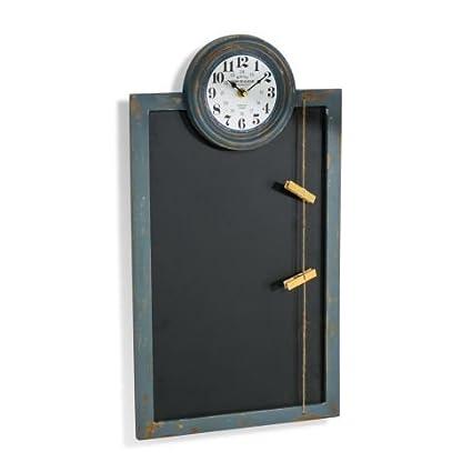 Pizarra magnética con reloj, placa de pared, de notas, de ...