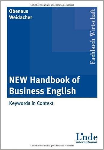 New Handbook of Business English: Amazon.de: Wolfgang Obenaus, Josef ...