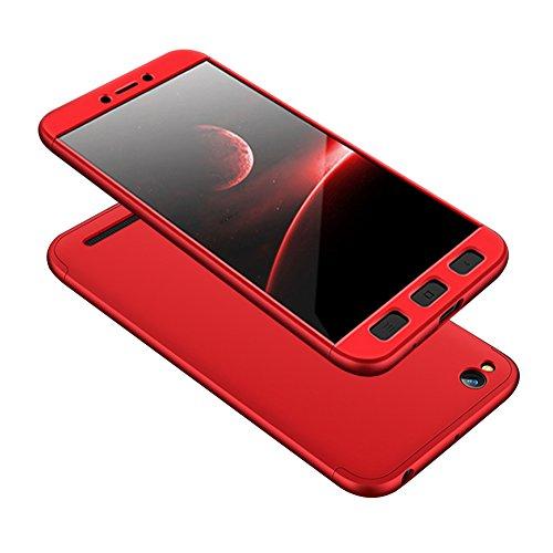 Xiaomi Redmi 5A Caso, Vandot de 360 Grados Alrededor de Todo el Cuerpo Completo de Protección Ultra Thin Slim Fit Cubierta de la Caja de Mate PC Absorción de impactos Shockproof para Xiaomi Redmi 5A ( PC QBHD-2