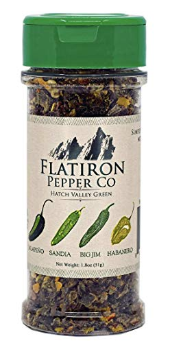 (Flatiron Pepper Co - Hatch Valley Green. Premium Green Chile Flakes. Hatch Green Chile - Jalapeno - Habanero)