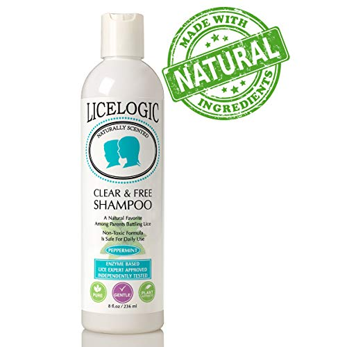 LiceLogic Natural Head Lice Shampoo and Treatment - Non Toxic Formula Kills Super Lice, Nits, and Eggs with No Harsh Chemicals, 8 ()