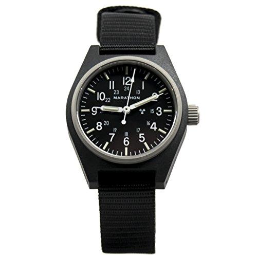 Marathon Watch WW194003BK General Purpose Mechanical (GPM) Military Field Watch with Tritium and Sapphire Crystal (34mm, Black)