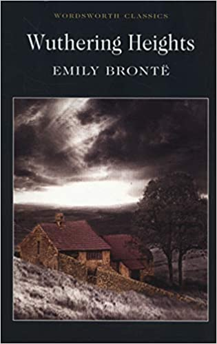 Wuthering Heights book cover depicting house on moor