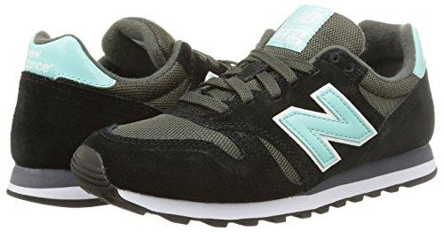 Donna black 373 Balance New Sneaker Nero qxptAHw