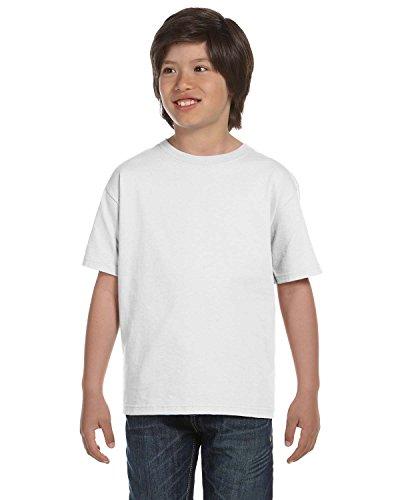 Gildan Youth DryBlend 56 Oz, 50/50 T-Shirt - White - XS -