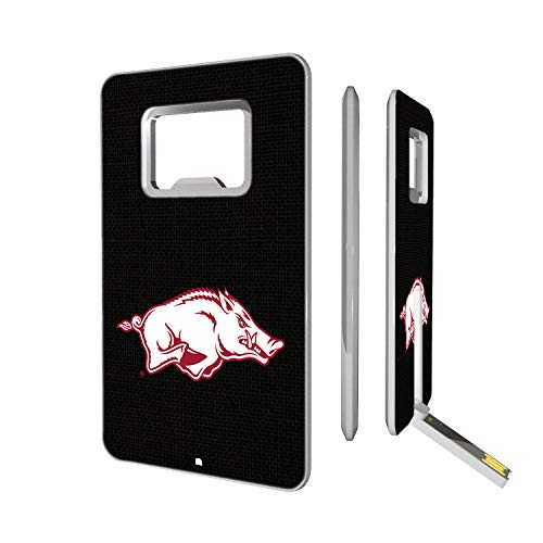 Credit Card Arkansas Razorbacks - Keyscaper KUBO16-0ARK-SOLID1 Arkansas Razorbacks Credit Card USB Drive with Bottle Opener with Solid Design