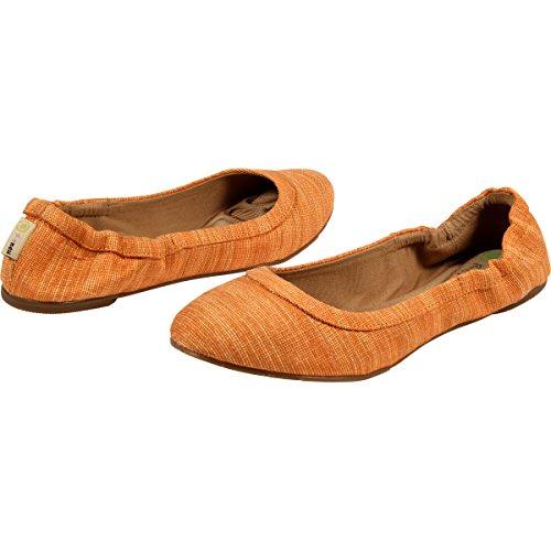 Reneu - Womens Flats (Zayna, Leila, & Ballerina) Tangerine