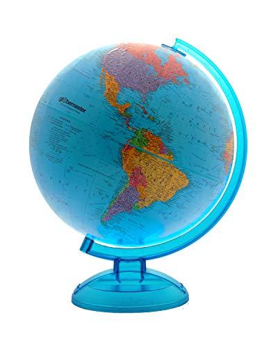 "Blue Ocean World Globe By Globemaster, Desktop, English (12""/30 Centimeter Diameter)"