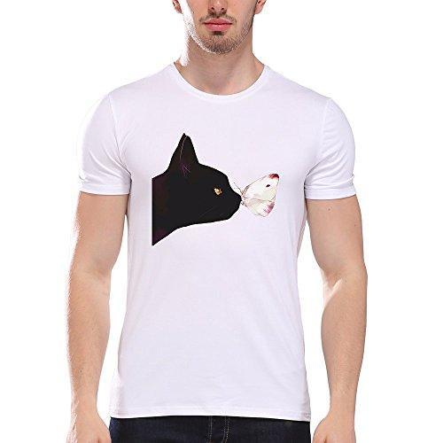 T En shirt Chemise Manches shirts Femmes Hommes D Courtes Coton Morchan D'impression noir Chemisier T x8UPtfqUw