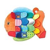 Melissa & Doug Flip Fish Baby Toy (Developmental Toy, Squeaker Tail, Shatterproof Mirror, Washable Fabrics,...