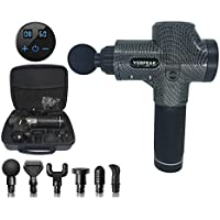 Verpeak Massage Gun LCD Touch Control, Deep Tissue Muscle Massager with 30 Adjustable Speeds and 6 Heads, Handheld…