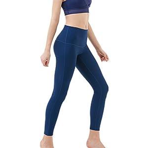 TM-FYP52-NVY_X-Small Tesla Yoga Pants High-Waist Tummy Control w Hidden Pocket FYP52