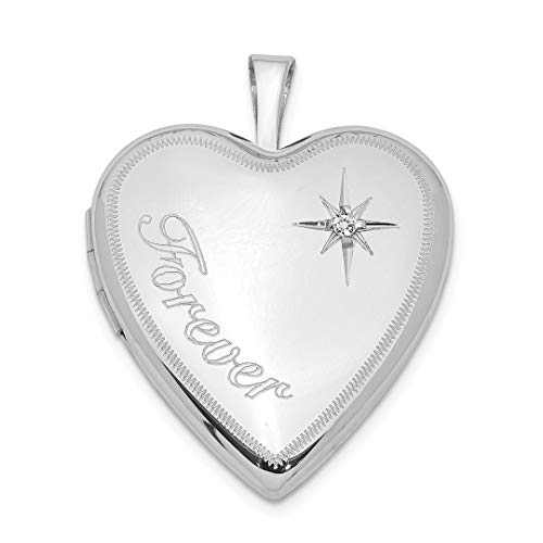 925 Sterling Silver 20mm Forever Diamond Star Heart Photo Pendant Charm Locket Chain Necklace That Holds Pictures Fine Jewelry For Women Gift Set