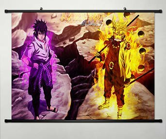 Anime Naruto Home Decor Wall Scroll Poster Fabric Painting J