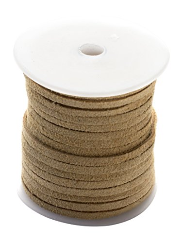 Tan Imitation Suede Cord Spool - 25yd