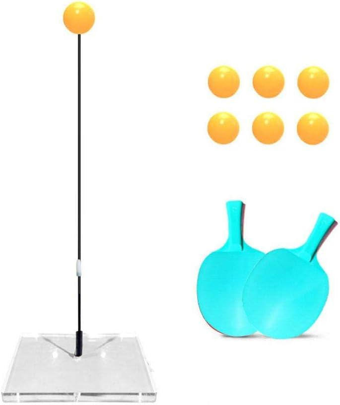 Mona43Henry Máquina de Entrenamiento de Tenis de Mesa con Mango Suave para Adultos y niños, para Jugar al Aire Libre en Interiores
