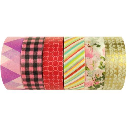 Wrapables Japanese Washi Masking Tape, Christmas Collection (Set of 6) – SET04