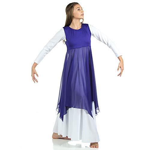 5b545ad8141d 6 · Danzcue Womens Worship Praise Dance Pullover Vest, Deep Purple, S/M