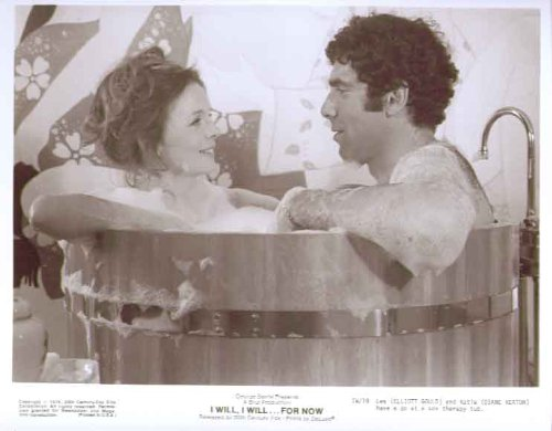 Diane Keaton Elliott Gould in sex therapy tub I Will For Now 8x10 still 19