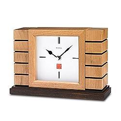 Bulova B1659 Usonian II Frank Lloyd Wright White Dial Quartz Clock